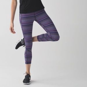 Lululemon Pace Rival Crop Space Dye Gym Leggings